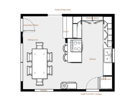 Kitchen Dining Room Floor Plan Ideas Kitchen Floor Plans Brilliant Kitchen Floor Plans With