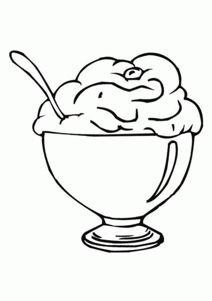 ice cream cup coloring pages ice cream cup clipart clipart panda free clipart images