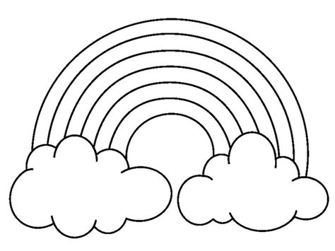 Pictures Of Rainbows To Color rainbows coloring page only coloring pages