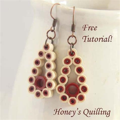 quilling teardrop tutorial tutorial how to make paper quilling earrings teardrop