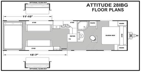 attitude toy hauler floor plans 2014 eclipse attitude wide lite 28ibg travel trailer