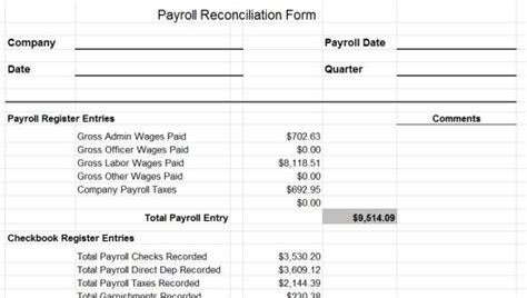 Payroll Reconciliation Report Template Disbursement Journal Zoro Blaszczak Co