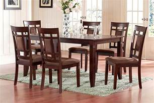 Solid Cherry Dining Room Set The Room Style 7 Cherry Finish Solid Wood Dining Table Set For Z Home