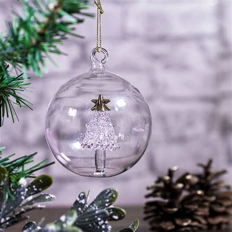 personalised glass tree bauble buy from