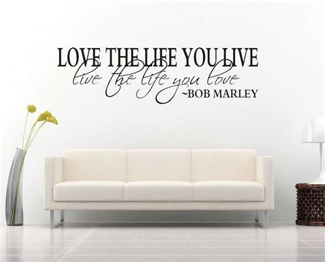 bob marley quote wall decal decor love life wall sticker