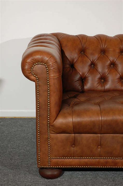 distressed leather chesterfield sofa 1960 s leather chesterfield sofa in distressed leather at