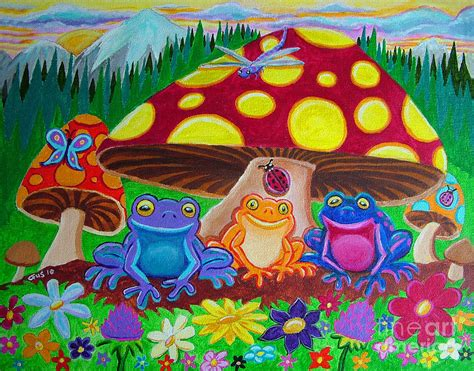nickelodeon painting happy frog painting by nick gustafson