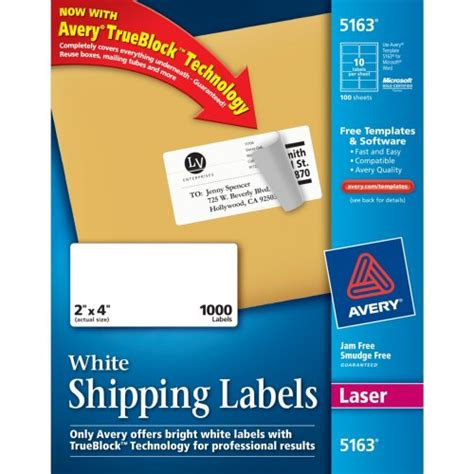avery templates 18660 avery easy peel clear mailing labels for laser printers 1