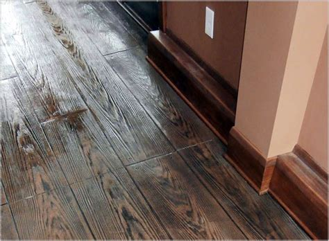 Hardwood Floor On Concrete by Sted Concrete Can Simulate Real Hardwood Floors