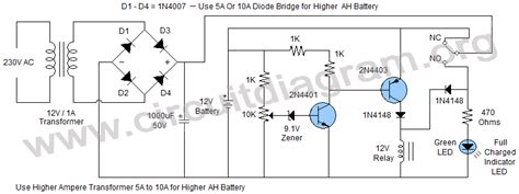 12v battery charger with auto cut circuit diagram 12v 6v battery charger with auto cut circuit diagram