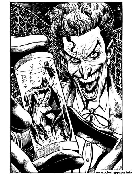 print joker holding batman  tube coloring pages
