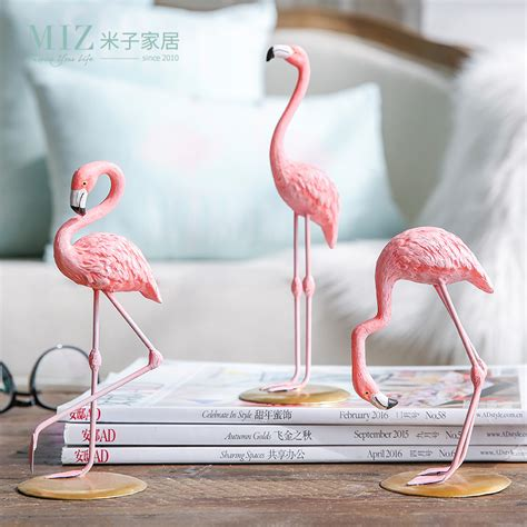 pink flamingo home decor miz home 1 piece resin pink flamingo home decor figure for