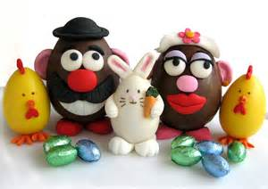 with food easter eggs and rolled fondant the