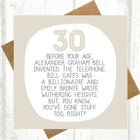 What To Write In A 30th Birthday Card By Your Age Funny 30th Birthday Card By Paper Plane