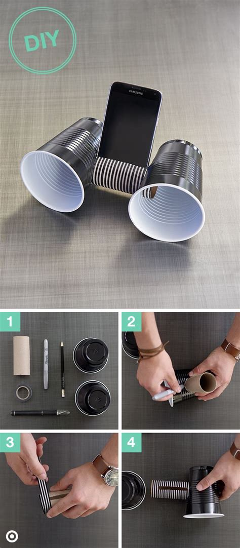 Paper Cup Telephone Craft - any easy way for great room sound a diy speaker