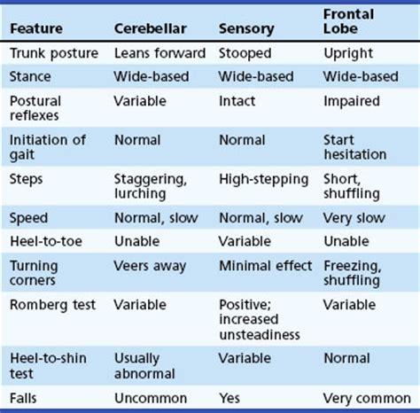 gait pattern types gait disorders neupsy key