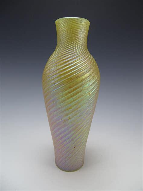 antique bohemian swirled iridescent kralik rindskopf glass