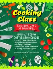 customizable design templates for cooking classes