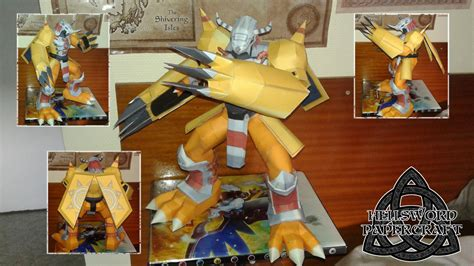 digimon wargreymon papercraft complete by