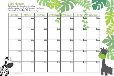 baby pool template due date calendar printable free calendar template 2016