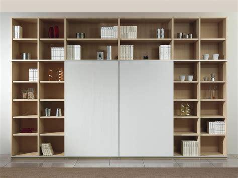 libreria con porta scorrevole struttura componibile con libreria e porta tv 2 porte