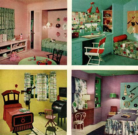 50s decor home chronically vintage four marvelously colourful 1950s