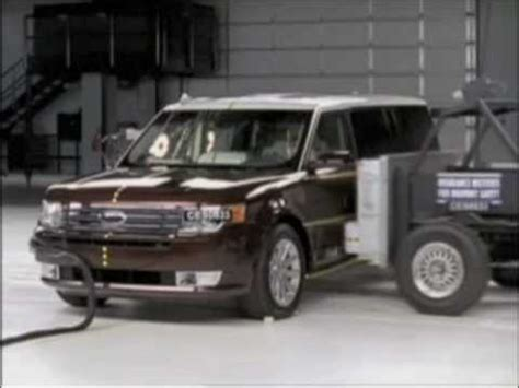 accident recorder 2010 ford flex navigation system 2009 2010 ford flex iihs crash tests youtube