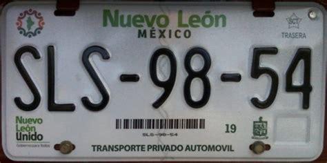 ultima fecha para pagar placas de autos 2016 placas de autos de m 233 xico y otras cos 999 as nuevo le 243 n
