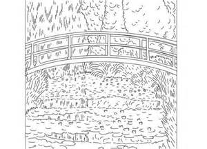 coloring pages of monet water lilies dexterity claude sketch template
