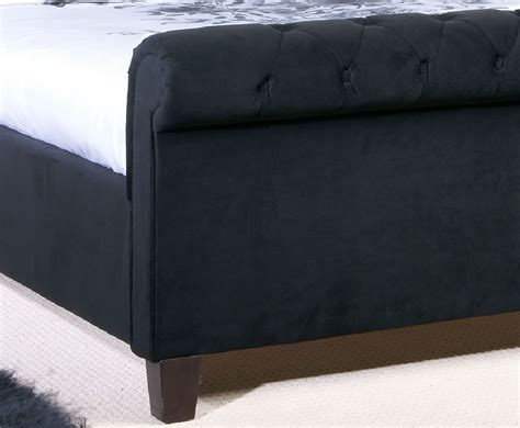 Black Upholstered Bed Frame Bertelli Black Upholstered Bed Frame 4ft 6 5ft Uk Delivery