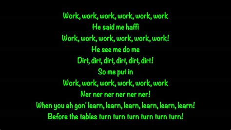 work work lyrics by rihanna and drake rihanna ft drake work lyrics youtube