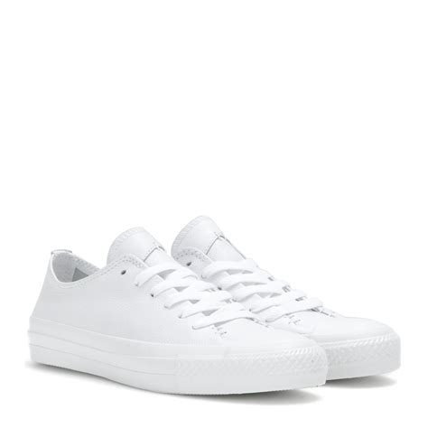 white sneakers converse chuck all low leather sneakers in