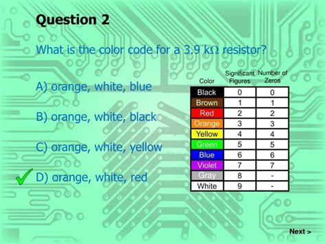 resistor color code ppt ppt resistors powerpoint presentation id 5899262