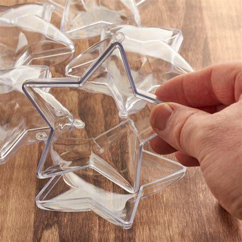 bulk 90mm clear acrylic fillable star ornaments acrylic