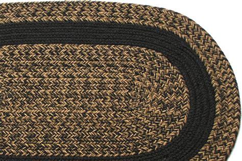 Black Braided Rugs by Charles Blend Black Band Braided Rug