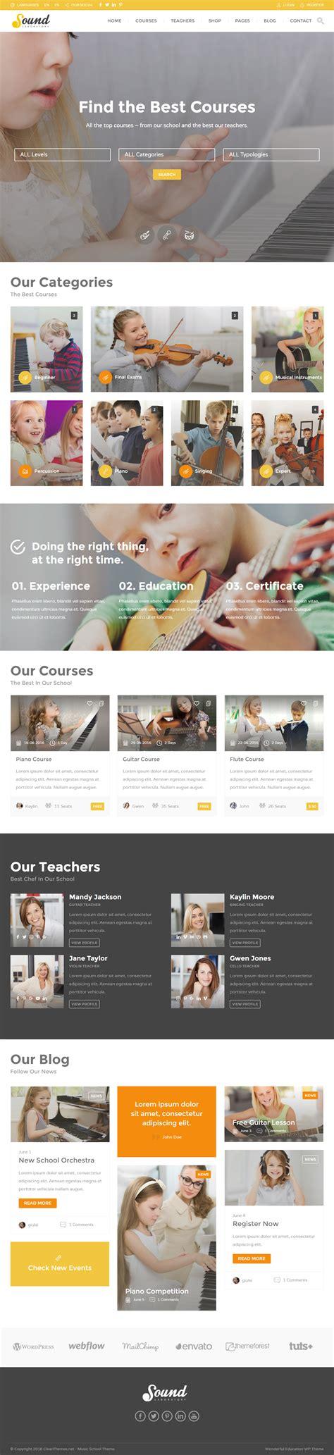 notacorda music school wordpress theme education best wordpress music school theme 2017 responsive miracle