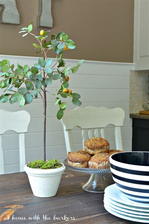 kitchen topiary kitchen table styling