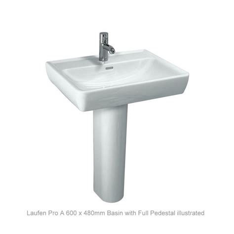pedestal bathroom basins laufen pro a basin full pedestal uk bathrooms