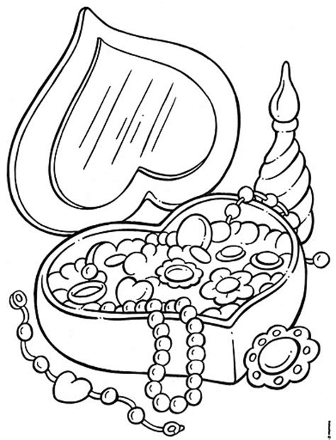 printable coloring pages jewelry jewelry boxes free coloring pages coloring pages