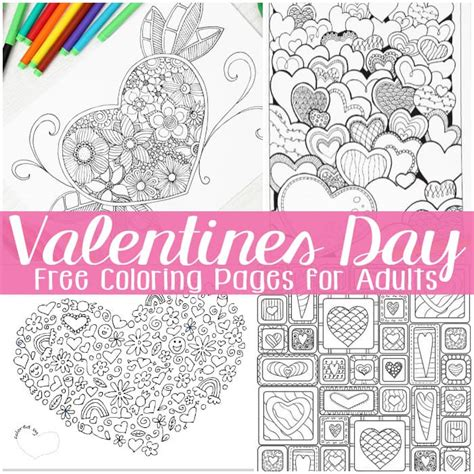 valentines for free valentines day coloring pages for adults easy peasy
