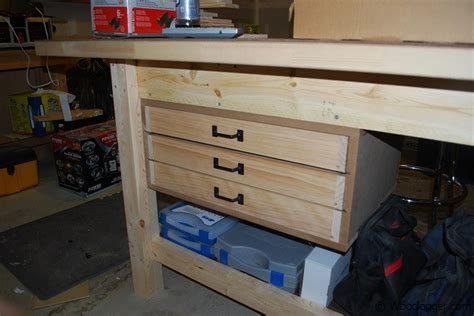 Diy Workbench With Drawers by Workbench Drawers