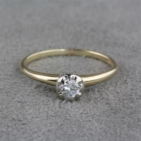 ring jewelry pre owned vintage engagement ring