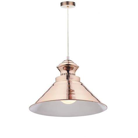 retro copper ceiling pendant light with long drop for high