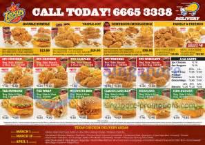 Texas Chicken Delivery Menu Combo Deals Delivery Areas