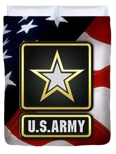 Target King Duvet U S Army Logo Over American Flag Duvet Cover For Sale