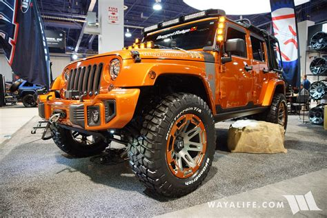 jeep wrangler 4 door orange 2016 sema rugged ridge orange jeep jk wrangler unlimited