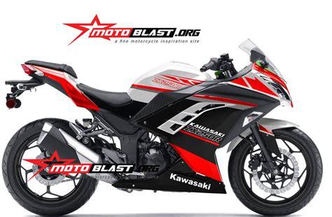 Fairing Custom R25 For Vixion Black White Energy fi white simple motoblast motoblast