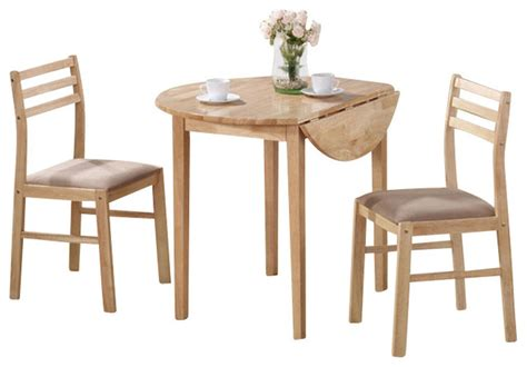 3 piece dining room set monarch specialties 3 piece 36x36 round dining room set in