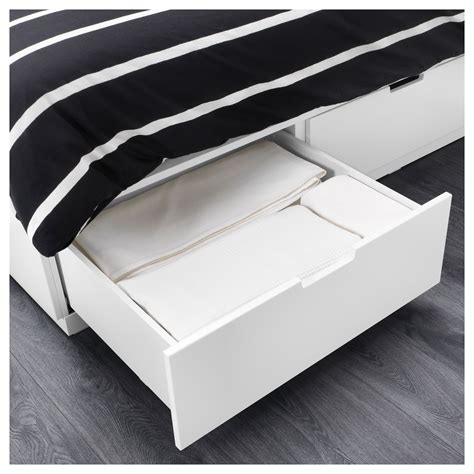 Ikea Bed Frame With Storage Nordli Bed Frame With Storage White 140x200 Cm Ikea