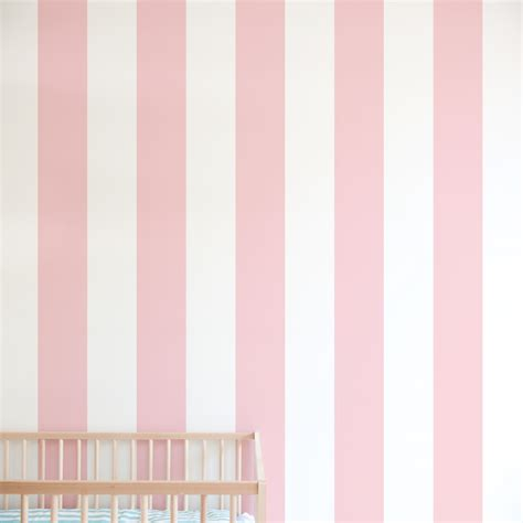 Poppy Wall Stickers stripe print removable wallpaper for nursery